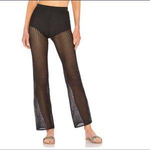 REVOLVE LPA Black Crochet Pants